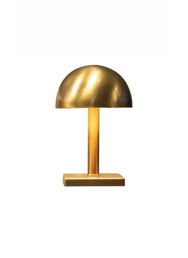 Kule Aydınlatma Metal Gövde Üzere Altın Kaplama E-27 Duylu Masa Lambası Altın
